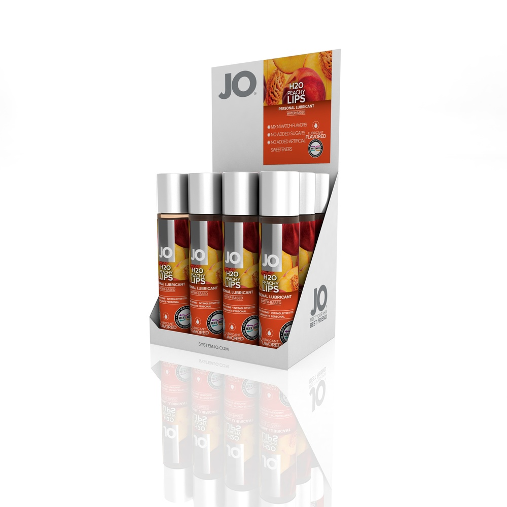 10126 - JO H2O FLAVORED LUBRICANT - PEACHY LIPS - 1fl.oz 30mL (MOQ 12 units - Includes Counter Display).jpg