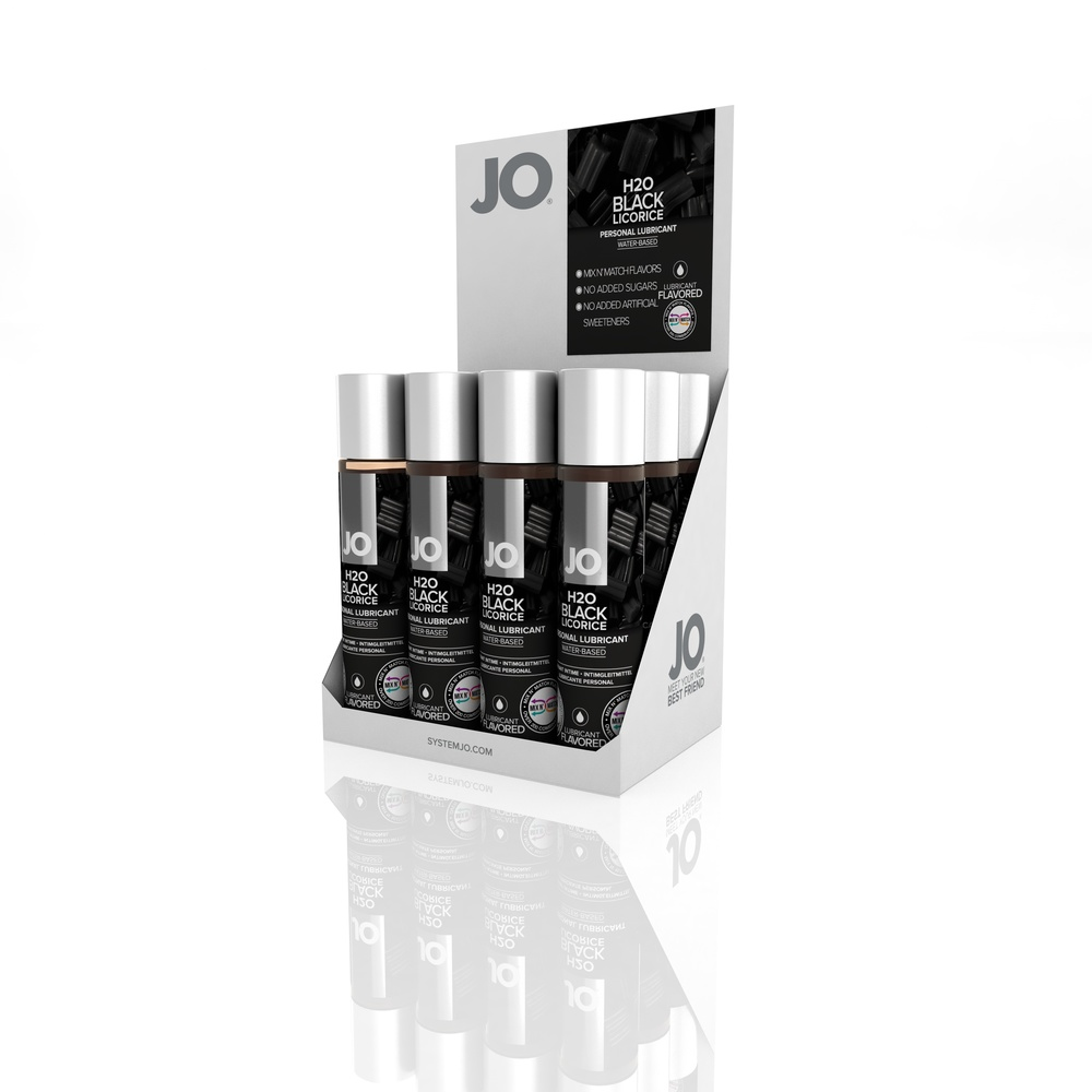 10382 - JO H2O FLAVORED LUBRICANT - BLACK LICORICE - 1fl.oz 30mL (MOQ 12 units - Includes Counter Display).jpg