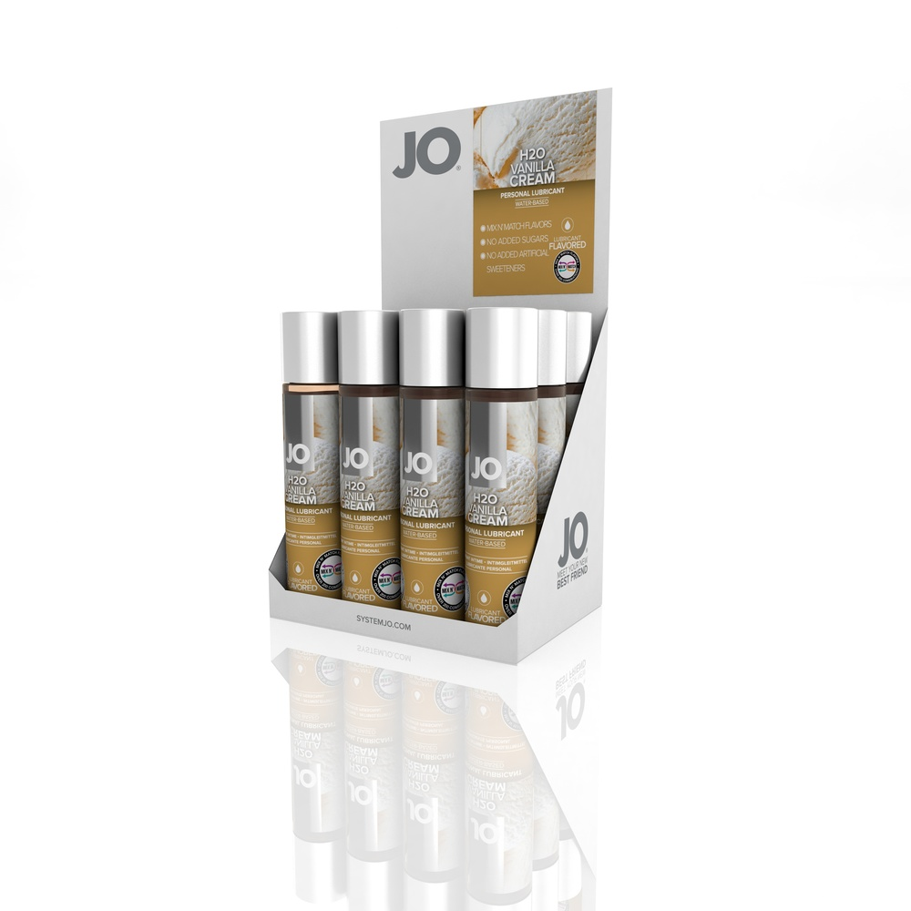10384 - JO H2O FLAVORED LUBRICANT - VANILLA - 1fl.oz 30mL (MOQ 12 units - Includes Counter Display).jpg