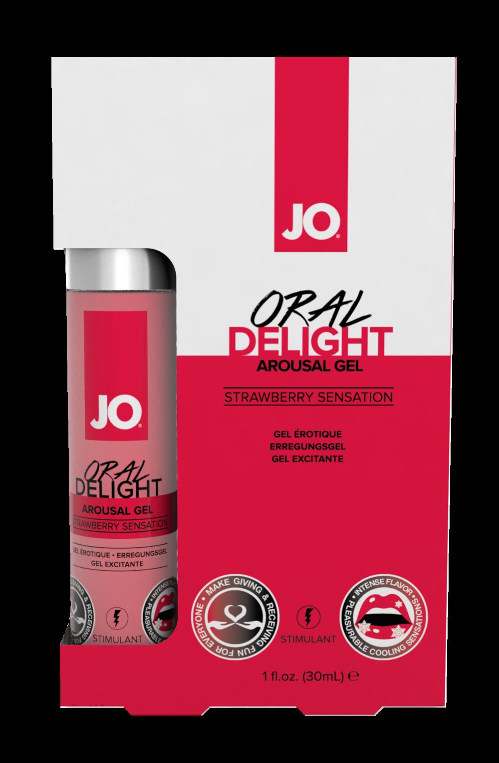 40481 - JO ORAL DELIGHT - STRAWBERRY SENSATION - 1fl.oz 30mL  (MOQ 12 units - Includes Counter Display C.png