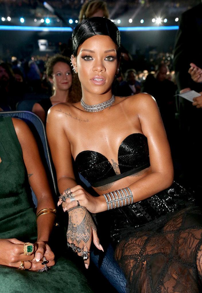 Rihanna wearing Jean Paul Gaultier