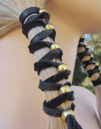 Bohemian Leather Hair Wrap, $20.00- etsy.com