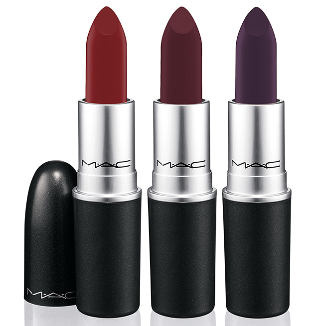 The trending Lip colors for the Fall season create an almost bruised appeal, OX Blood Red, Deep Burgundy, and a Vibrant but deep Plum taking vampy to the next level. These lipsticks^^^ is brought to you by MAC Cosmetics and Nasty Gal.