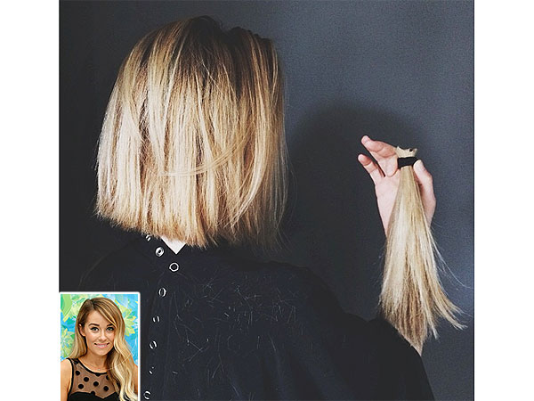 lauren conrad cuts hair