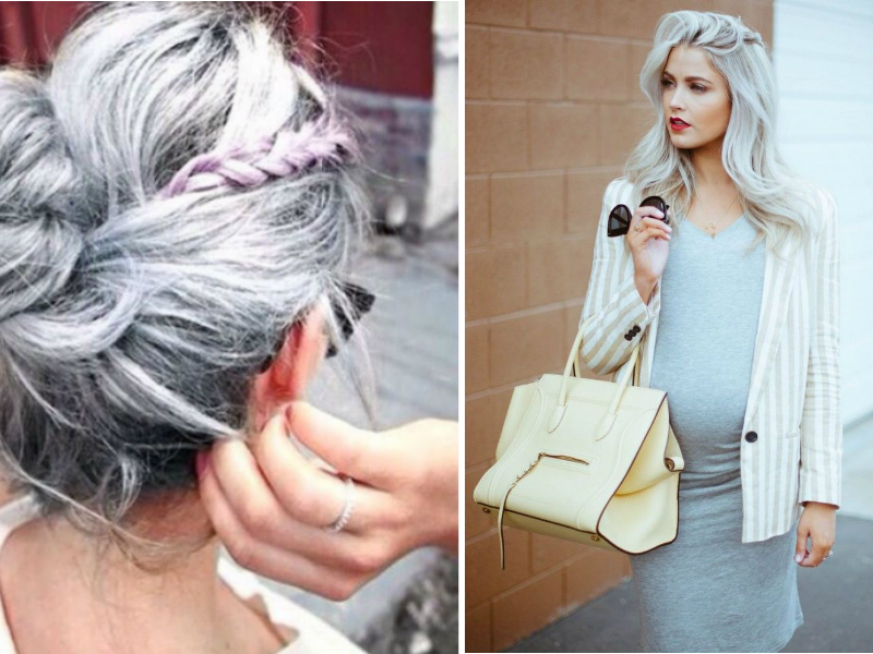 7. 'Granny's hair' includes all the '50 shades of gray' and all of them are trendy: violet gray, cold&warm still, blue metallic, deep platinum, snow-white silver. Do not hesitate to experiment.