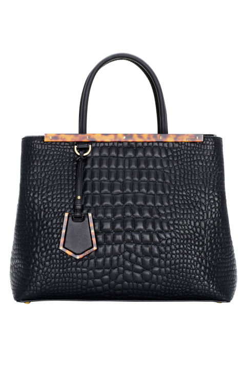 Fendi bag, $2,750, similar styles available at shopBAZAAR.com.  COURTESY FENDI