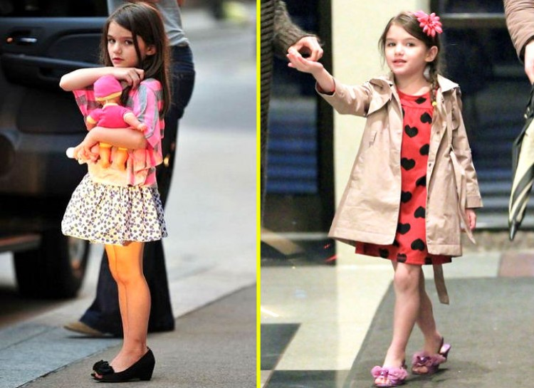 SURI CRUISE Suri has always been in the limelight for being a fashion icon ever since she was born. It is kind of expected with parents like Tom Cruise and Katie Holmes, both extremely famous and insanely well-dressed. She constantly wears adorable dresses, coats, sweaters, leggings, and shoes, so she is the entire package. She's even inspired her own fashion blog!