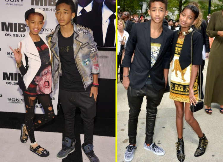 WILLOW AND JADEN SMITH Add some bohemian chic with a tad of edginess and you have yourself the children of Will and Jada Smith. These two kids have their own sense of fashion and they rock the runways of major events with a confidence most young people don't have until they're much older. They even show up at events matching!