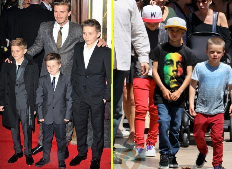 ROMEO, CRUZ, AND BROOKLYN BECKHAM These three boys have style like no other thanks to their iconic parents David and Victoria Beckham. Romeo was actually the Burberry Spring/Summer 2013 campaign front when he was just 10 years old. Their style usually banks on athletic attire with a twist of modernism.