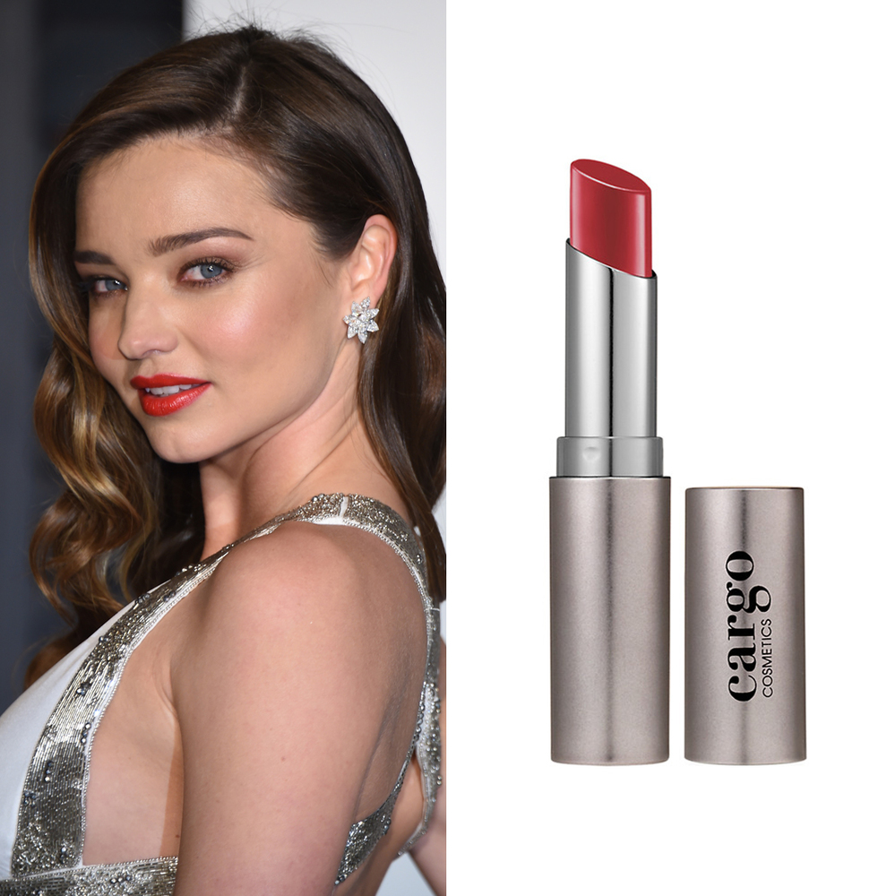 Miranda Kerr at the Oscars     Makeup artist Lisa Storey wanted a classic '40s-glamour makeup look. So, she applied Cargo Essential Lip Colour in Paris  ($29) for the Vanity Fair Oscars party.  Image Source:  Getty    Read More     Oscars Beauty  Celebrity Beauty  Miranda Kerr  Award Season  Beauty Shopping  Oscars  Golden Globe Awards  Cargo Cosmetics  Red Carpet