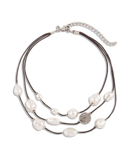 Hetti Tiered Faux - Pearl Necklace $ 49