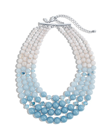 Olenka Blue Layered Necklace $ 59