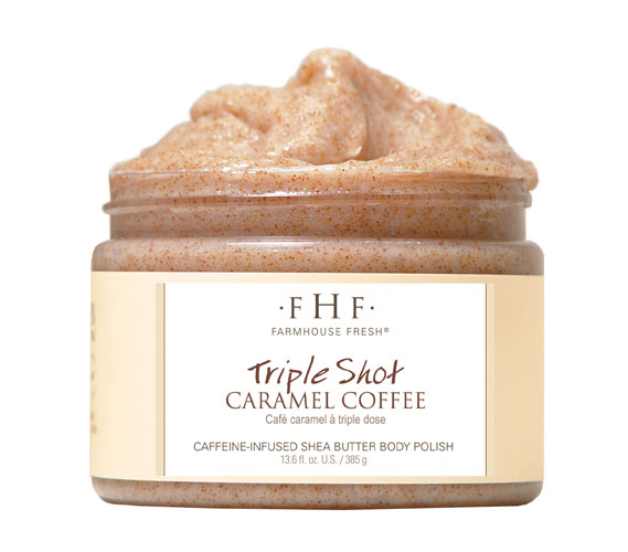 An energizing boost for your morning shower, this rich, creamy   scrub   will leave your mouth watering for a warm cup of joe as it gently polishes away dull skin. Whiffs of caramel come through to add sweetness, but not too much—coffee lovers will be hooked.   $34,    farmhousefreshgoods.com