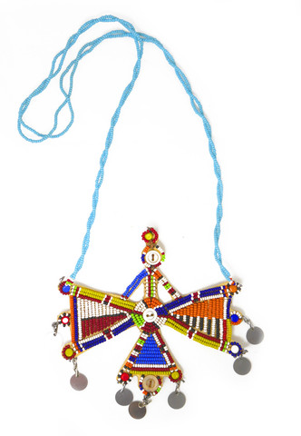 Maasai Moran Beaded African Pendant $ 65.00 Authentic Tribal Jewelry Hand Crafted by the Maasai Women of Kenya One of a Kind
