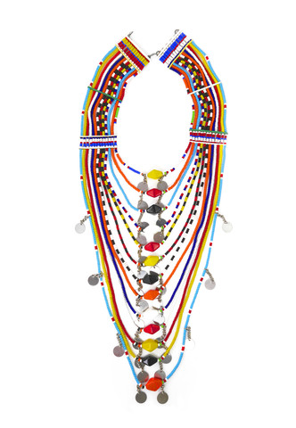 Maasai Beaded tribal Necklace $225