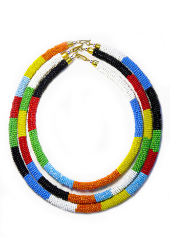 Maasai Beaded rope necklace $180