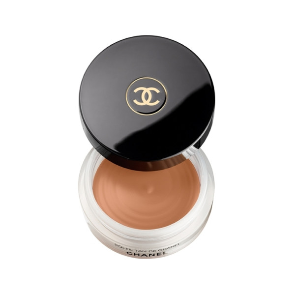 The velvety feel to this cream leaves any complexion smooth. A makeup brush makes this bronzing gel easy to apply instead of using your hands to rub in.   Soleil Tan De Chanel Bronzing Makeup Base ,  Chanel   $48