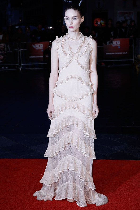 Rooney Mara in Alexander McQueen Spring/Summer 2016 at the Carol premiere, London