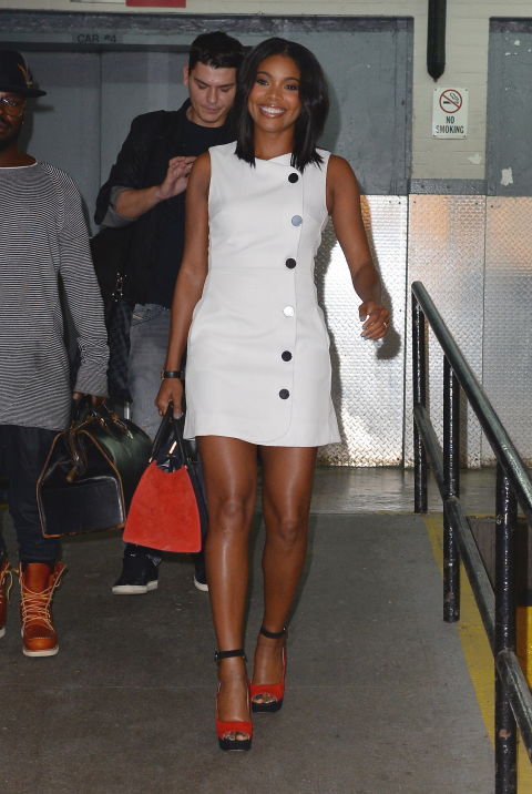 Who: Gabrielle Union  When: October 14, 2015  Why:  Gigi Hadid  isn't the only celeb that dresses in affordable digs. Gabrielle Union stepped out in a  dress by ASOS  that costs a whopping $81. Cheap andchic? Yes, please.