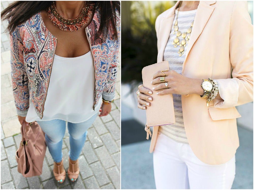 If you want to add a classy zest to your image, pick a jacket. Jackets make girls look more elegant and sophisticated. This clothing item will underscore your figure and hide imperfections. There are a lot of styles and colors you can rock to look flawless.