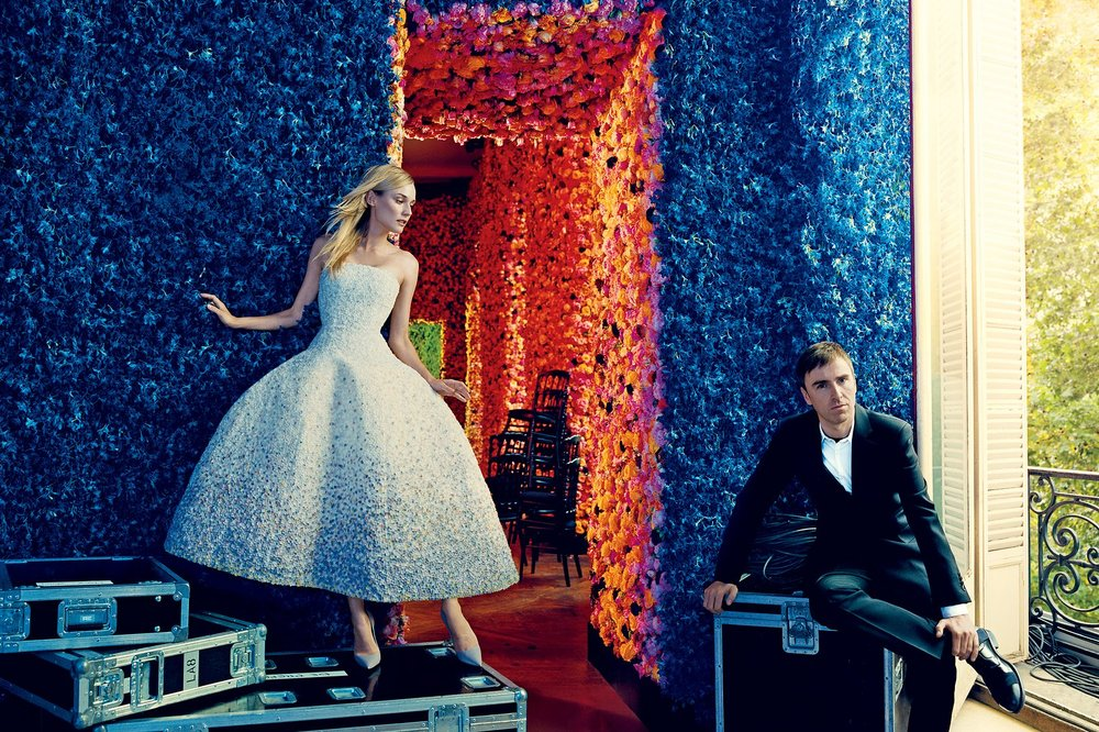 Diane Kruger in Christian Dior Haute Couture and Raf Simons   photographed by Norman Jean Roy,Vogue September 2012