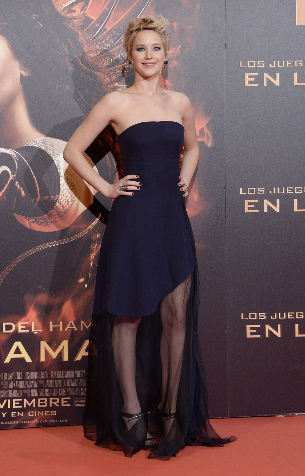 The Hunger Games: Catching Fire Madrid premiere, November 2013.   Photo:Fotonoticias/Getty Images
