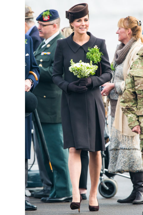 What: Catherine Walker coat  When: March 17  Where: Attending a St. Patrick's Day Parade