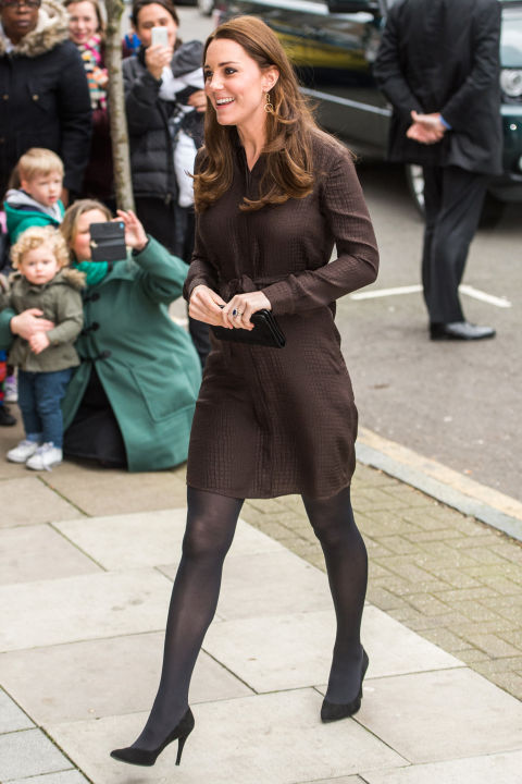 What: Hobbs dress  When: January 16  Where: Visiting the Fostering Network in London  GETTY