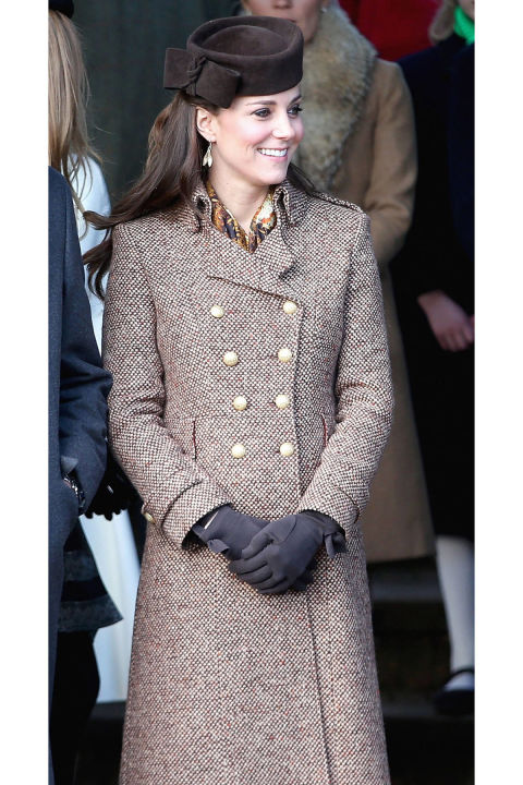 What: A Moloh coat When: December 25 Where: Christmas day service at the Sandringham estate in Norfolk GETTY IMAGES