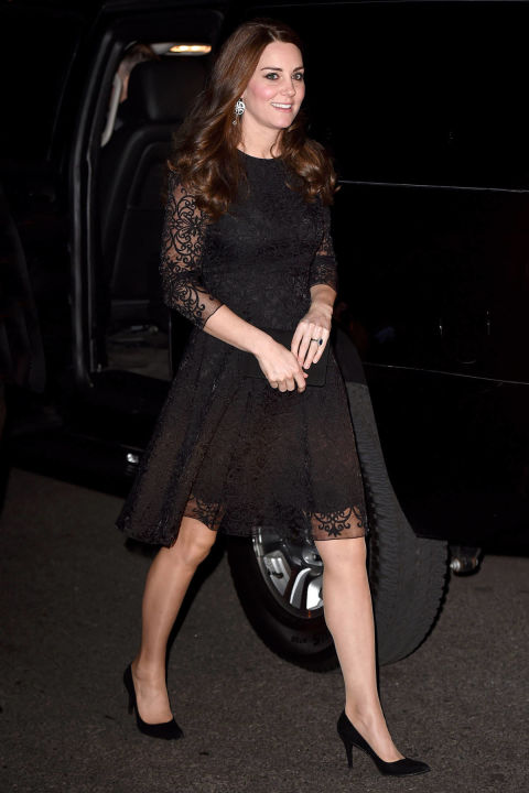 What: Beulah London dress and Stuart Weitzman for Russell & Bromley pumps  When: December 7  Where: Attending a private dinner at Sir Martin Sorrell's Manhattan home for the American Friends of the Royal Foundation.  SPLASH NEWS