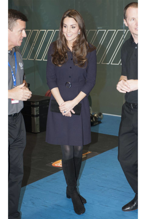 What: Goat dress ( Grazia reports  the $700 frock sold out in minutes)  When: November 12  Where: Visiting a SportsAid workshop in London  KATEMIDDLETON