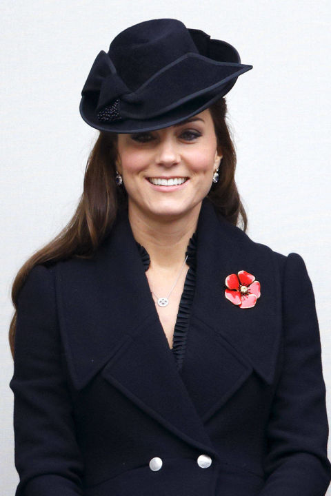 What: Alexander McQueen coatdress  When: November 9  Where: Remembrance Sunday services in London  GETTY IMAGES