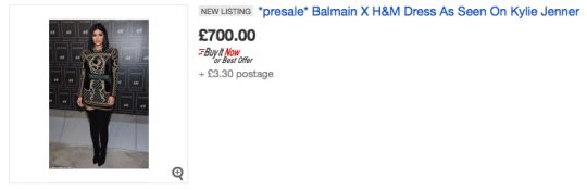 WOW that's one expensive high street dress. You could get a 5* holiday for that price. [Photo: eBay]