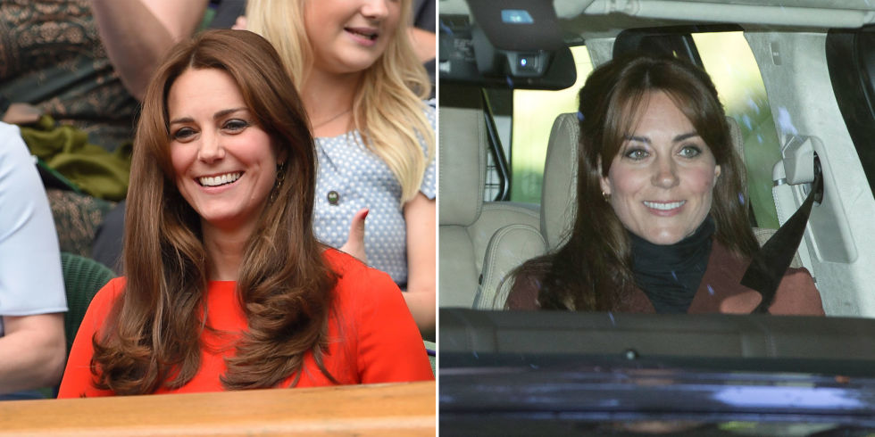 KATE MIDDLETON  From no bangs to bangs.  GETTY/SPLASHNEWS