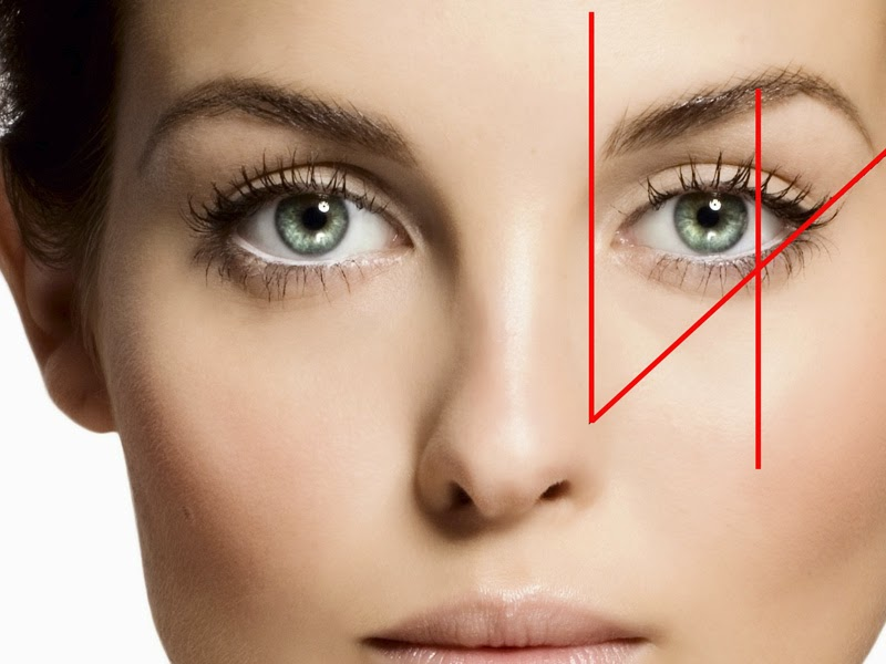 Getting the right shape of your eyebrows is a long process. Start with defining the shape according to your face. The red lines in the picture show where to define the angles, the beginning and the end of you brows. For more details follow the next step-by-step tutorial.