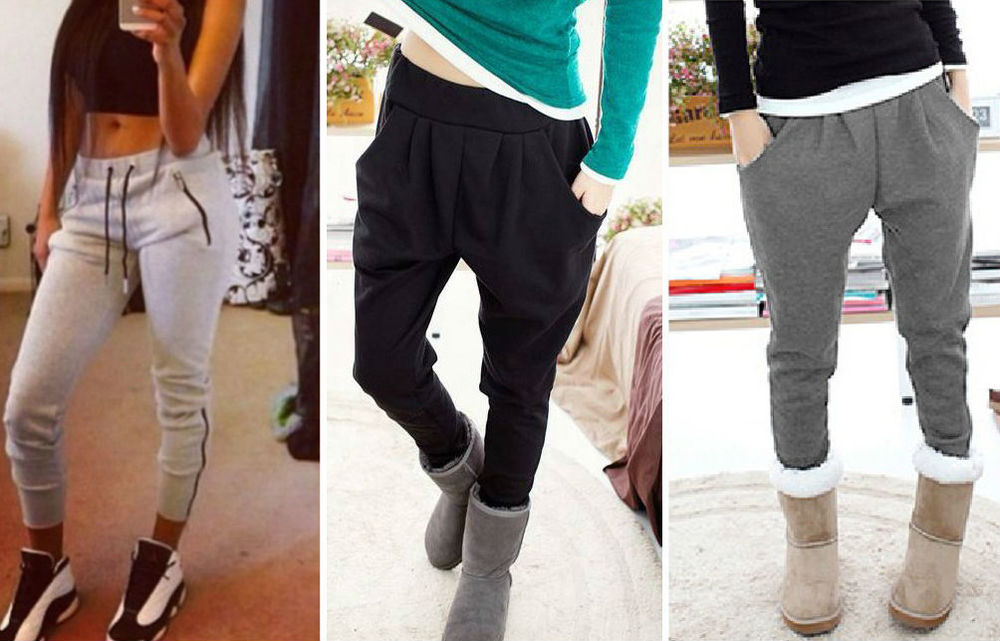 5. Skinny Sweatpants Finally, some of them can be socially acceptable to wear outside. Now, due to the skinny silhouette, you can rock them outside of your bedroom. This edged-up pair great for more of a streetwear look, with Nikes, or with an androgynous shoe and a no-makeup look. Very cute if you show a little skin and wear a tight crop top – bring it back to 90's girls, like Destiny's Child.