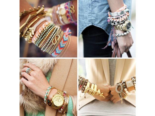 You can never have enough of them! It's time to release your inner Coachella love. Bring out all the arm cuffs and arm bands that you had stashed so long. Whether you are stacking them on your wrist or flaunting them higher up in your arms, this is the season of arm candies. Get them all out, but remember too much of everything is bad! Don't load your arms and hands with everything. Choose with care and mix and match with love.