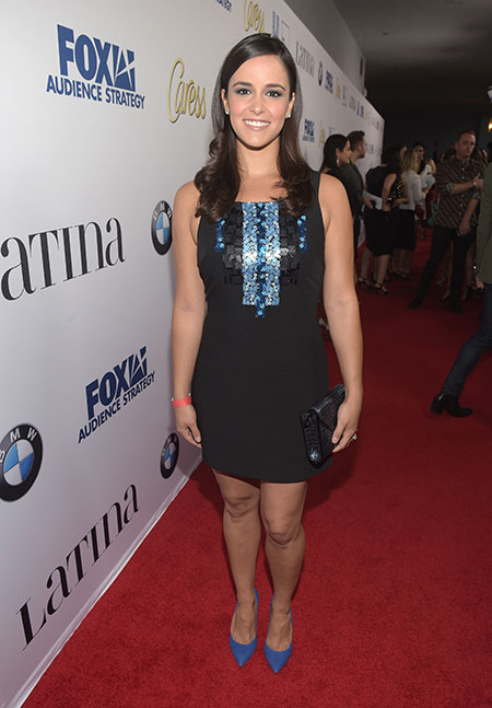 Brooklyn Nine-Nine actress and our August 2015 cover star Melissa Fumero looked stunning in an embellished LBD.