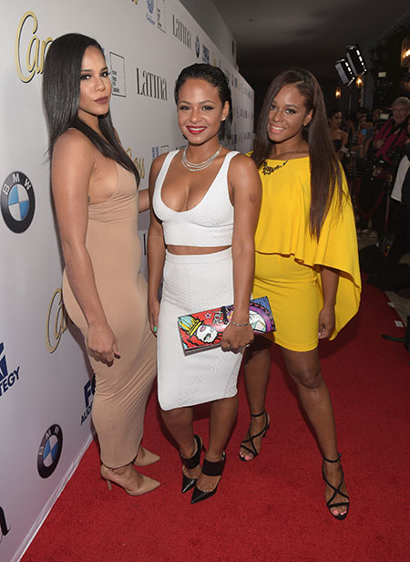 Getty Images View all slides ‹ › #SquadGoals! Christina Milian and her sisters, Danielle and Elizabeth, shut it down on the red carpet!
