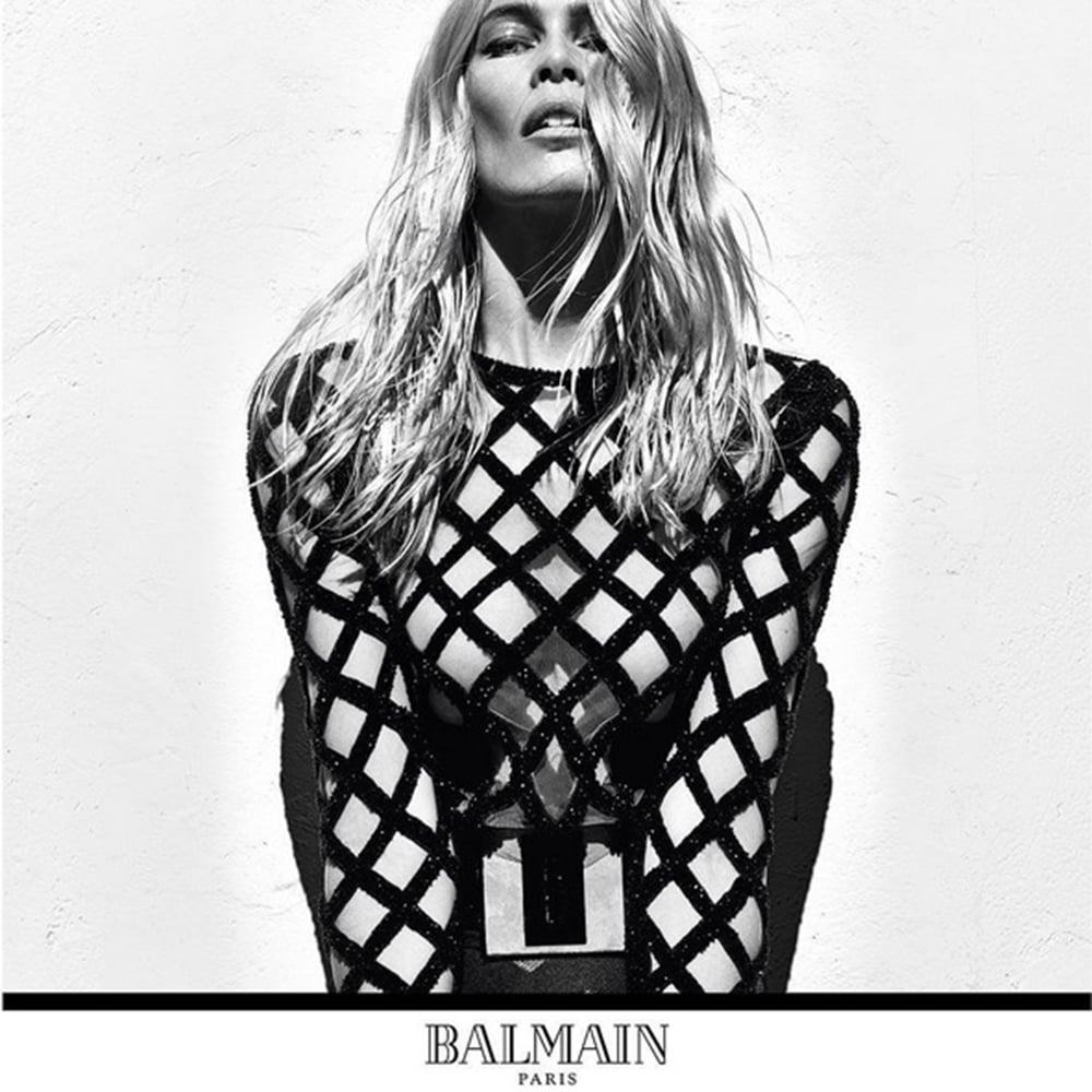 Balmain Model: Claudia Schiffer Photographer: Steven Klein