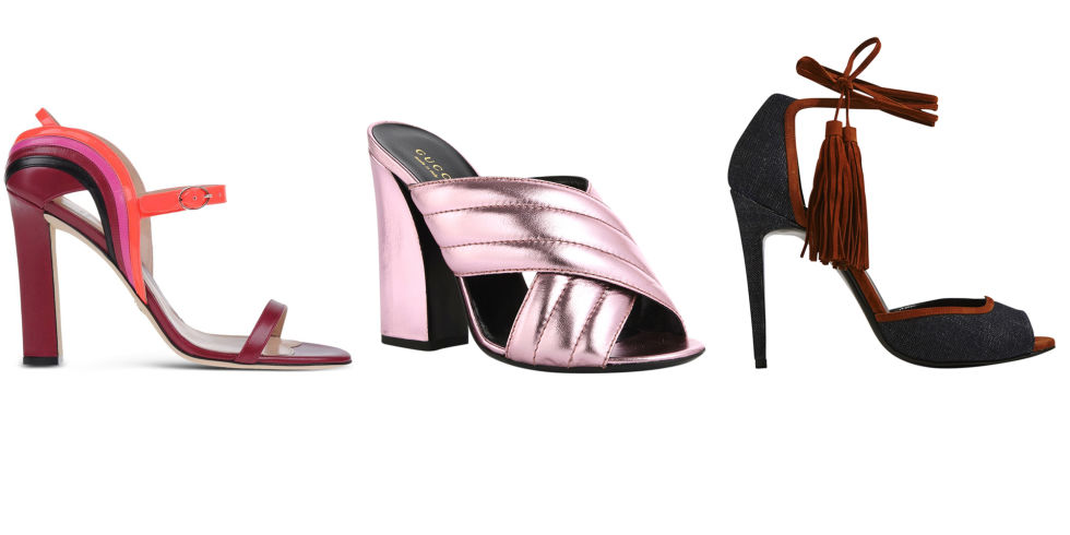 Paula Cadematori shoes, $745, shopBAZAAR.com; Gucci shoes, $595,shopBAZAAR.com; Pierre Hardy shoes, $845, shopBAZAAR.com. SHOPBAZAAR