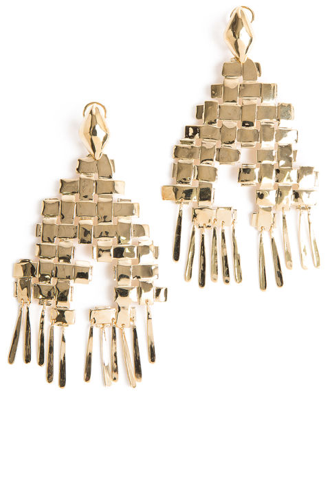 Aurelie Bidermann earrings, $525,shopBAZAAR.com. SHOPBAZAAR