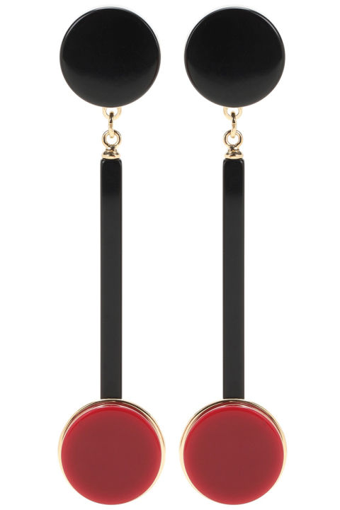 Marni earrings, $280, mytheresa.com. MYTHERESA