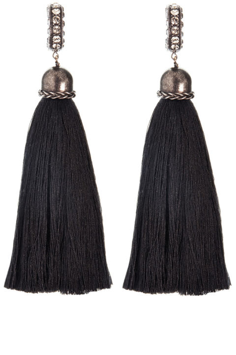 Lanvin earrings, $590, shopBAZAAR.com. SHOPBAZAAR