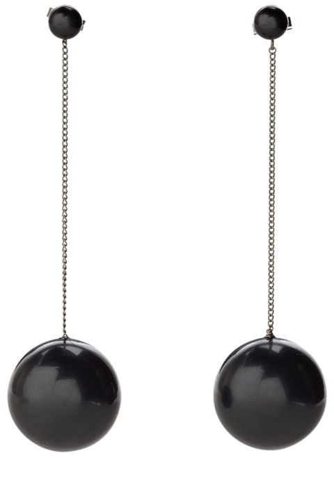 Salvatore Ferragamo earrings, $220,shopBAZAAR.com. SHOPBAZAAR