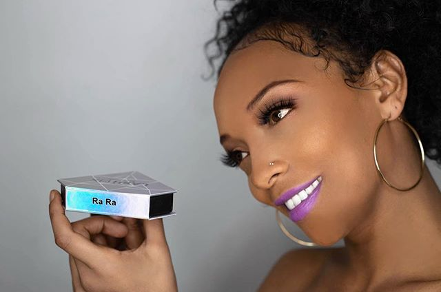 """#LASHFIXNYC VALENTINES GIVEAWAY💕!!! TAG SOMEONE BELOW👇👇👇 ! Winner receives choice of any 3 of our 7 Lashes !  @lashfixnyc . Model is wearing The """"RA RA"""" Lash . """"Ra Ra"""" represents your Crown Chakra. Providing Connection to your Divinity🙏🏾. Claim your Queendom 👑! Instantly activate the Goddess inside you and Glow Up !@georgechemas 📸 