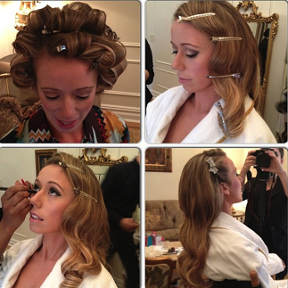 Behind the scenes hair & makeup with Our Lovely Bride Charlotte / Plaza Hotel NYC November 2013 / Wedding Planner, David Tutera