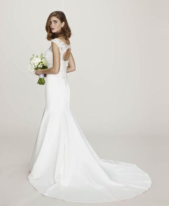 The elegant Alicia wedding dress is just £395 [BHS]