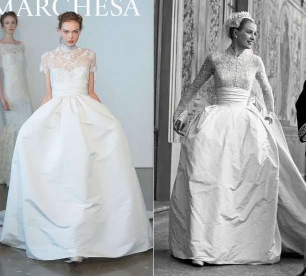 Grace kelly s wedding dress inspires marchesa s new collection