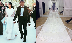 Kim kardashian west wedding dress